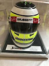 Jenson Button 2009 World Champion Mini F1 Brawn Formula 1 Helmet W/Display Box