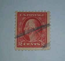 US Scott#500 GEORGE WASHINGTON 2c Carmine/Red POSTAGE STAMP