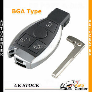 For Mercedes Benz C E G R S GL SL SLK BGA 3 Button Remote Car Key Fob Cover Case