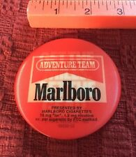 "Marlboro Cigarettes Adventure Team 3"" Holographic Button / Pin, 1992 Advertising"