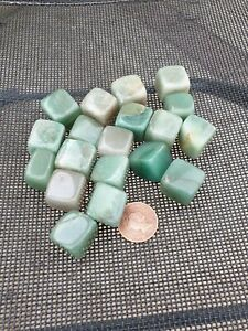 Green Aventurine Cube Shaped Crystals Free P&P