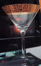 Set of 2 Animal Print Martini Glasses Holds 10 oz. 3 Sets Available Fast Ship