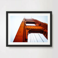 SAN FRANCISCO ART PRINT Poster Wall Picture Architecture Golden Gate Bridge Red
