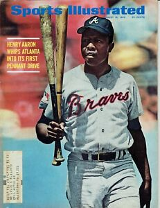 "Henry ""Hank"" Aaron Sports Illustrated August 18, 1969 Atlanta Braves"