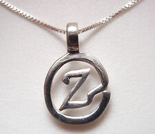 "The Letter ""Z"" Pendant 925 Sterling Silver Corona Sun Jewelry z"