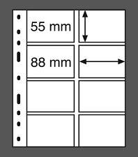 Kunststoffhüllen Leuchtturm OPTIMA 4VS, 8er Einteilung SCHWARZ, 10 Stk.(332 697)