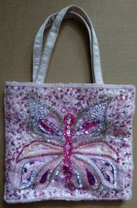 Monsoon Small Sequinned Butterfly Design Bag