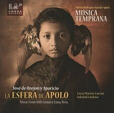 Musica Temprana - La Esfera De Apolo Music From 18Th Century Lima Peru [New CD]