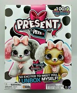 Present Pets Interactive Plush Pet Puppy Toy 100 Sounds Who will you Get NEW