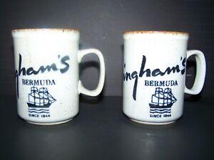 (2) Triminghams Bermuda mugs -- Dunoon Ceramics Stoneware -- Made in Scotland