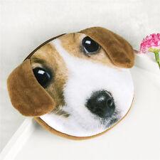Children Lovely Long ear dog Face Zipper Case Coin Kids Purse Wallet Makeup Bag