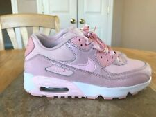 NIKE AIR MAX 90 GIRL'S 5 Y SHOES 880305 600 2017 Prism Pink