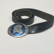 Dicks Men's Genuine Leather Belt Silver Eagle Buckle