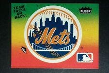 NEW YORK METS LOGO SEASON TOTALS RAINBOW BASEBALL TRADING CARD STICKER