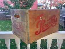 Vintage Pepsi Wooden Box Elmira NY