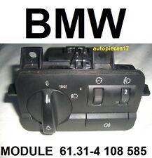 BMW E46 COMMUTATEUR COMMODO BOUTON LUMIERE 61314108585 61.31-4 108 585