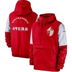 New San Francisco 49ers Nike Fan Gear Historic Anorak 1/4 Zip Pullover Jacket