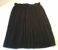 LUCKY & COCO BLACK PLEATED SKIRT ELASTIC WAIST SIZE L - NEW WITH TAGS!