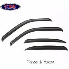 Matte Black Window Visor Kit for Chevrolet Tahoe/Yukon 00-06 Rugged Ridge