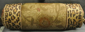 Pillow made w Ralph Lauren Venetian Court Floral Leopard printed Tapestry Fabric
