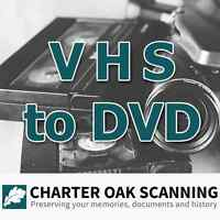1 VHS Tape converted to DVD [VHS Scanning Service]