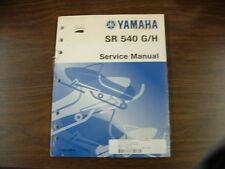 YAMAHA SR 540 G/H SNOWMOBILE SERVICE MANUAL