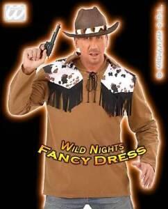FANCY DRESS COSTUME = COWBOY SHIRT WILD WEST MED
