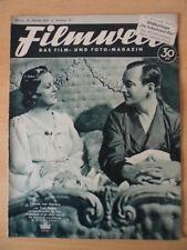 FILMWELT 44 - 28. Oktober 1938 Valerie von Martens Curt Goetz Maly Delschaft