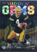 1998 Topps Chrome Hidden Gems BRETT FAVRE #HG6 Bk$12 Packers