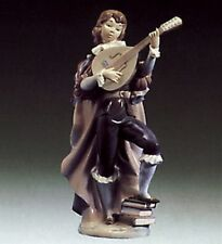 Lladro Figurine 1974 Retired - Little Trobadour - Young Man Playing Mandolin