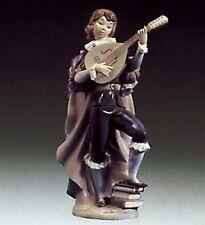 Lladro Figurine 1974 Retired - Little Trobadour - Young Man Playing Mandolin