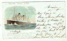 More details for early postcard white star ocean liner r.m.s oceanic chromo-litho used 1903