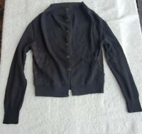Allsaints Womens Wool Cashmere Blend Slouchy Cardigan Sweater Black Size 10