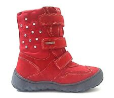 New $120 GABOR Kids Girls Boots Red LEATHER Size 12 USA/30 EURO.FREE RETURN