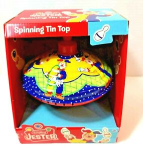 RARE New in Box Schylling Jester Spinning Tin Top 2014 Humming Sound