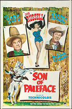 """Poster & 2 Lobby Cards Son of Paleface 1952 27""""x41"""" & 11""""x14"""" VF 8.0 Bob Hope"""