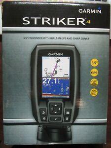 """Garmin STRIKER 4 3.5"""" Fishfinder w/ GPS & Chirp Sonar 010-01550-00 BRAND NEW"""