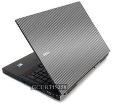 SILVER CARBON FIBER Vinyl Lid Cover Decal fits Dell Precision M6400 M6500 Laptop