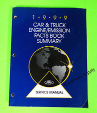1999 Ford Car Truck Engine Calibration & Emission Book Service Manual F150 F250