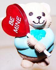 1991 New Hallmark Valentine Merry Miniature Bear w/ Lollipop Never Used Qsm1509