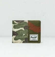 NWT Herschel Supply Co Roy+ RFID Wallet Camo w/ Orange