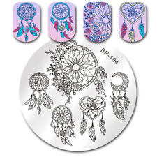 Stamping Plate Dream Catcher Feather Heart DIY Nail Art Image Plate BORN PRETTY