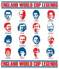 England World Cup Legends T-shirt Shearer Lineker Moore Gazza Charlton Beckham