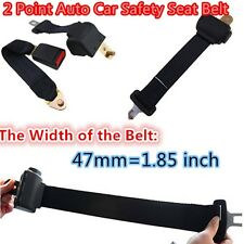 Universal Black Color Retractable 2 Point Auto Car Safety Seat Belt for All Car#