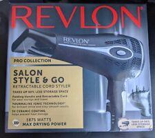 Revlon Pro Collection Salon Style & Go Retractable Cord Dryer w/1875 Watt