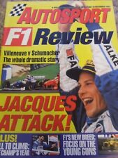 AUTOSPORT SUPPLEMENT MAGAZINE DEC 1997 F1 REVIEW VILLENEUVE v SCHUMACHER HILL