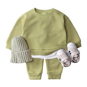Boys Girls Kids Plain Tracksuit Hoodie T Shirt Joggers Jogging Bottoms Outfit