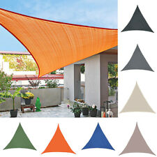 Sun Shade Sail Outdoor Top Canopy Patio Swimming Pool Triangle UV Block Covers