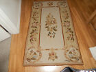 """Vintage Handmade Needlepoint Scatter Rug 33"""" x 55"""" As Is (Needs backing)"""