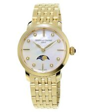 FREDERIQUE CONSTANT WOMEN'S WRIST BAND WATCH SLIMLINE Moon Phase FC-206MPWD1S5b